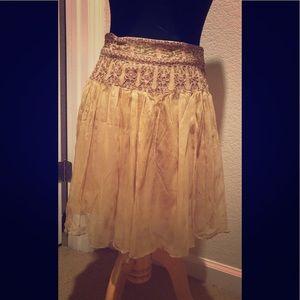 Forever 21 gold/tan chiffon skirt